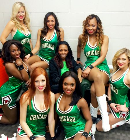 Green with envy: Some Luvabulls in their St. Patrick's attire.